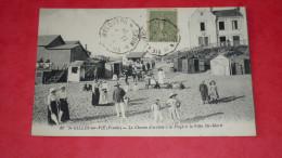 ST GILLES-sur-VIE ( Vendée) - Le Chemin D'arrivée à La Plage Et La Villa Ste Marie - France