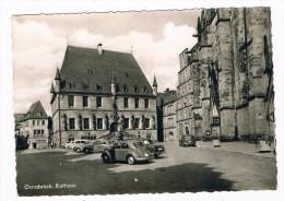 D4710     OSNABRÜCK : Rathaus ( Mit Volkswagen Käfer, Beetle) - Osnabrueck