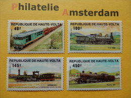 Upper Volta 1984, TRAINS CHEMINS TREINEN EISENBAHN ZÜGE TRENES: Mi 968-71, ** - Eisenbahnen
