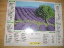 Calendrier De La Poste 1996 - Calendari