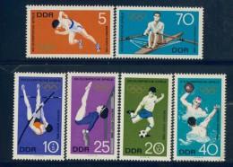 BL1-329 DDR, EAST GERMANY 1968 MI 1404-1409 SPORT, OLYMPICS MEXICO CITY. MNH, POSTFRIS, NEUF**. - Zomer 1968: Mexico-City