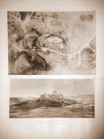 Héliogravure De Chauvet -  31X45 Cm - Acropole D'Athènes (Planche 40)/Athens - Prints & Engravings
