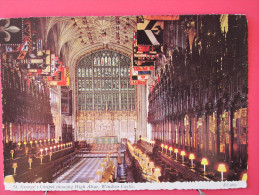 Angleterre - Berkshire - Winsor Castle - St Georges's Chapel Showing High Altar - Excellent état - Scans Recto-verso