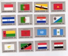 TIMBRE - NATIONS UNIES / UNITED NATIONS - LOT 16 TIMBRES DRAPEAUX / FLAGS - NON OBLITERE - VOIR SCAN ET DESCRIPTION - Stamps