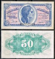 R 561  Billete 50 Cts Republica 1937. Nuevo Sin Uso. Plancha - [ 2] 1931-1936 : Republic