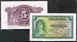 R 562   Billete 5 Pts  Republica 1935. Nuevo Sin Uso. Plancha - [ 2] 1931-1936 : Republic