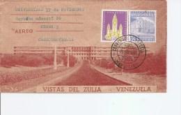 Vénézuéla ( Lettre Illustrée Par Avion De 1963 Vers La Tchécoslovaquie à Voir) - Venezuela