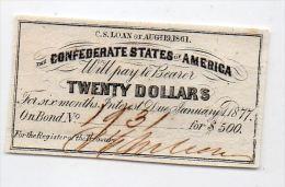 USA : certificat emprunt de guerre conf�d�r�