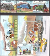 Walt Disney  MiNr. 2122,2125,2127,2128,2130 - 2131 (Block 246) Grenada  MNH / ** / POSTFRISCH - Disney