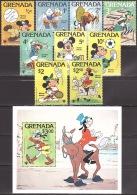 Walt Disney  MiNr. 991 - 1000 (Block 86) Grenada  MNH / ** / POSTFRISCH - Disney
