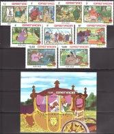 Walt Disney  MiNr. 1187 - 1196 (Block 111) Grenada  MNH / ** / POSTFRISCH - Disney