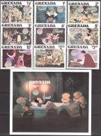 Walt Disney  MiNr. 1066 - 1075 (Block 92) Grenada  MNH / ** / POSTFRISCH - Disney