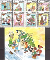 Walt Disney  MiNr. 1232 - 1241 (Block 117) Grenada MNH / ** / POSTFRISCH - Disney