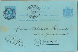 4Za955 : BRIEFKAART 5 CENT : MAASTRICHT  > Gand BE 1894 - Postal Stationery