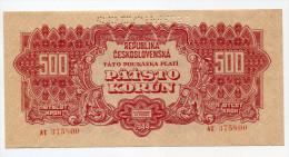 Tchécoslovaquie Czechoslovakia 500 Korun 1944 AUNC++  SPECIMEN # 2 - Tchécoslovaquie