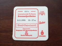 Geel-Ten-Aard XXIVe RUILBEURS 1995 ( Brouwerij ROMAN - Sous Bock / Coaster / Onderlegger ) Zie Foto´s Voor Detail ! - Sous-bocks