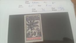 LOT 226519 TIMBRE DE COLONIE COTE IVOIRE NEUF(*) N�31 VALEUR 18 EUROS