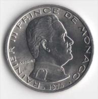 ** 1 FRANC MONACO 1974 NEUVE FDC ** - 1960-2001 Nouveaux Francs