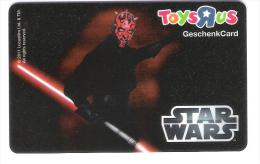 Germany - Allemagne - Toys R Us - Star Wars - Carte Cadeau - Carta Regalo - Gift Card - Geschenkkarte - Frankreich