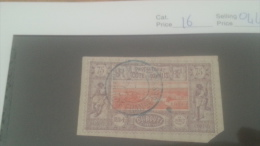 LOT 226551 TIMBRE DE COLONIE COTE DE SOMALIS OBLITERE N�16 VALEUR 44 EUROS