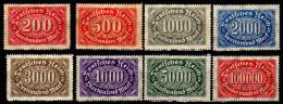 Deutsches Reich, 1922, Mi 248; 251-257 ** (Mi 251 (*); 248; 252 *) [051014IX] - Duitsland