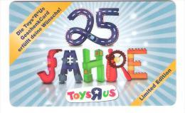 Germany - Allemagne - Toys R Us - 25 Jahre - Carte Cadeau - Carta Regalo - Gift Card - Geschenkkarte - Frankreich