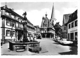 Michelstadt, Odenwald, Rathaus Und Marktbrunnen, Auto, Oldtimer. Normalformat - Michelstadt