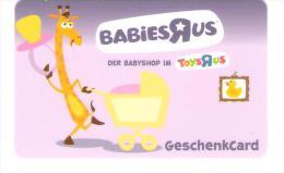 Germany - Allemagne - Toys R Us - Carte Cadeau - Carta Regalo - Gift Card - Geschenkkarte - Treuekarten