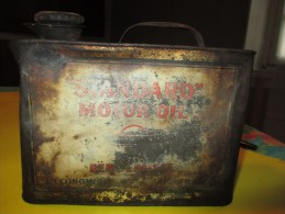 Bidon  Métallique/Bidon à Huile/ Standard Motor Oil/Importé Du New Jersey/USA/vers 1930      BFPP15 - Scatole