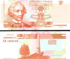 Transnistria #34a, 1 Ruble, 2000, UNC / NEUF - Moldawien (Moldau)