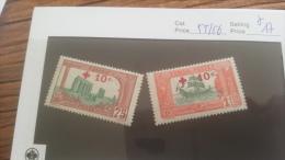 LOT 226592 TIMBRE DE COLONIE TUNISIE NEUF* N�55/56 VALEUR 17 EUROS