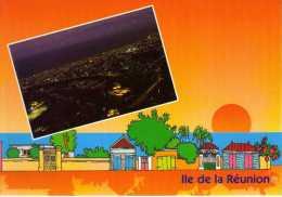 974 - ILE DE LA REUNION -   Ile Bourbon - Vue Aérienne De SAINT DENIS Vue De Nuit - Saint Denis