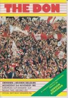 Official Football Programme ABERDEEN - BEVEREN Belgium European Cup Winners Cup 1983 2nd Round - Abbigliamento, Souvenirs & Varie