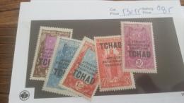 LOT 226645 TIMBRE DE COLONIE TCHAD NEUF* N�53 A 55 VALEUR 85 EUROS