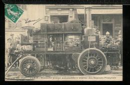 PARIS  POMPIERS - Nouvelle Pompe Automobile à Vapeur Des Sapeurs Pompiers - Weyher Et Richemond - éditeur GONDRY - Sapeurs-Pompiers