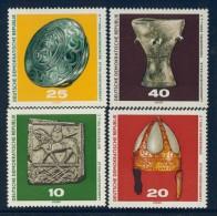 BL1-340 DDR, EAST GERMANY 1970 MI 1553-1556 ARCHEOLOGY, ARCHEOLOGIE, ARTEFACTS. MNH, POSTFRIS, NEUF**. - Archeologie