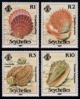 ~~~ Seychelles 1987 - Shells  - Mi. 633/636  ** MNH ~~~ - Ascension