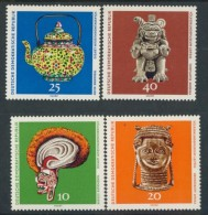 BL1-344 DDR, EAST GERMANY 1971 MI 1632-1635 ARCHEOLOGY, ARCHEOLOGIE, ARTEFACTS. MNH, POSTFRIS, NEUF**. - Archeologie