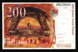 CP 200 Francs Eiffel (dos) (N° 22-2) - Monnaies (représentations)