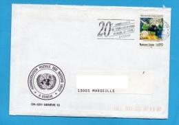 NATIONS UNIES OFFICE DE GENEVE SUISSE N° 176 (YT)VEILLE METEOROLOGIQUE MONDIALE - Office De Genève