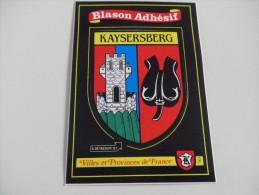 HAUT RHIN - KAYSERSBERG - écusson Blason - Kaysersberg