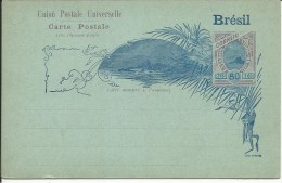 BRAZIL  Bilhete Postal 80 Reis  U.P.U.  Avec Réponse Payée   Complete - Enteros Postales