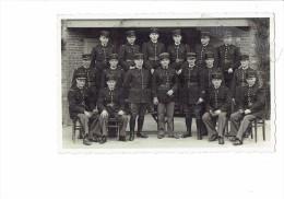 Carte Photo Militaria - Groupe Gendarmes - Rex-photo AUXERRE - Années 1930/1940 - Characters