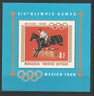AZ--023-,  MONGOLIE - BF n� 15, * * ,  cote 7.50 �, JUMPING - MEXICO 1968 -  a saisir ,   je liquide
