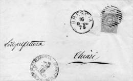1880  LETTERA CON ANNULLO BRESCIA - 1878-00 Umberto I