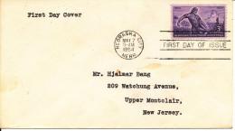 USA FDC 7-5-1954 Nebraska City Nebraska Territorial Centennial - First Day Covers (FDCs)