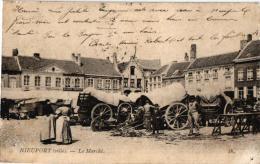 Nieuwpoort  4 CPA Markt 1904  Boekerij Zonnebloem  Ijzer    Arche De Noé - Nieuwpoort