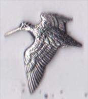 Pin's Métal 3D, Gibier Chasse, Woodcock - Bécasse Des Bois, Signé AR Brown Pewter - Badges