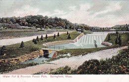 Massachusetts Springfield Water Fall & Fountain Forest Park