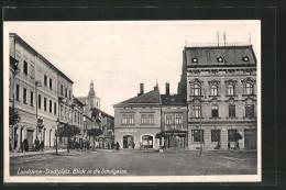 CPA Landskron, Blick Vom La Place Du Marché In Die Schulgasse - Tchéquie